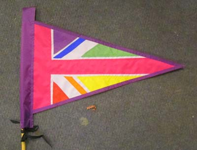 Rainbow Union Jack Pennant Bike Flag